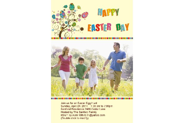 All Templates photo templates Easter Day Invitation-3